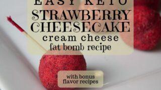 Easy Keto Jello Cream Cheese Fat Bomb Recipe