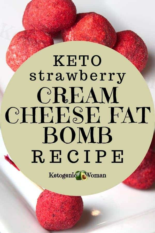 Easy Strawberry Cheese Cake Cream Cheese Fat Bomb Recipe