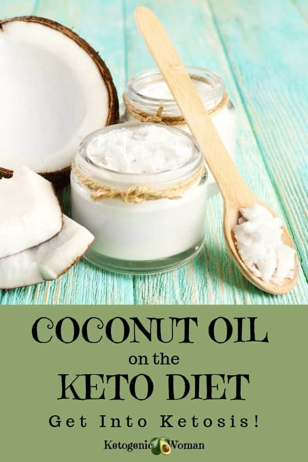 A jar on a table, with Coconut and Oil