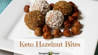 Keto Hazelnut Low Carb Cheesecake Bites