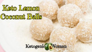 Keto Lemon Coconut Balls - Low Carb Fat Bombs