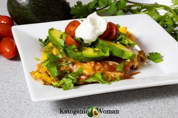 Mexican omelet on white plate