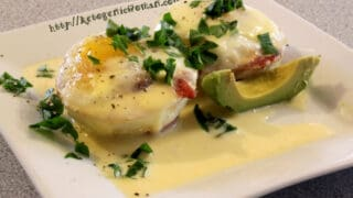 Delightful Keto Eggs Benedict with Super Easy Hollandaise Sauce
