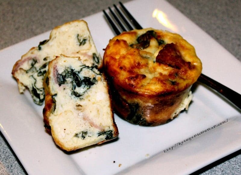 Low Carb Breakfast - Keto Spinach Feta Muffins - Ketogenic Woman