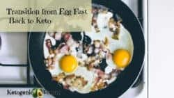 How to Transition from Egg Fast back to Keto