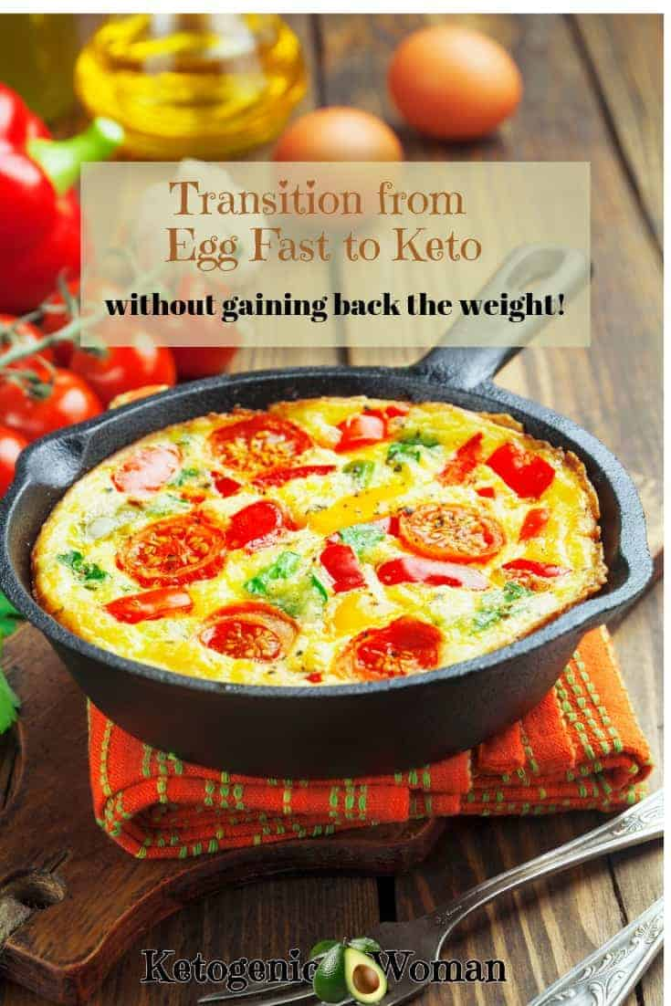 How to Transition from Egg Fast to Keto without gaining back the weight!