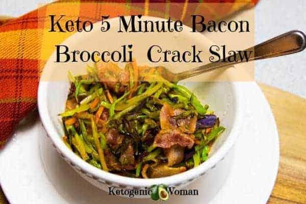Fast Keto Bacon Broccoli Crack Slaw recipe