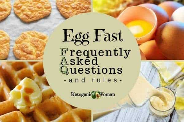 Egg fast menu and rules frequently asked questions.