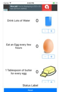 The free Egg Fast Tracker App for iPhone and Android. Helps with Egg Fast tracking! What is the Keto egg fast diet? What can I eat on the Keto egg fast? What can you drink on the egg fast diet? How do you get a Keto egg fast to work? How many eggs a day on an egg fast? Get all the answers you need here!