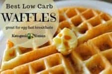 Best low carb keto waffles. Best egg fast breakfast ideas.