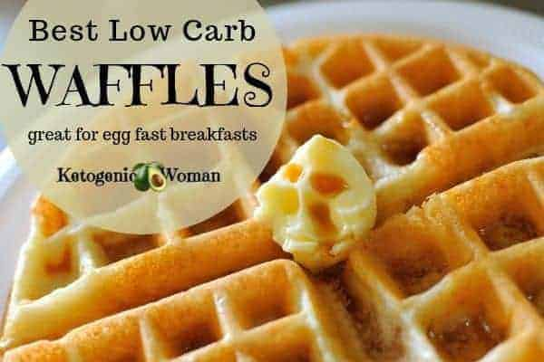 Best Low Carb Waffles Recipe - Perfect Keto Egg Fast Meal!