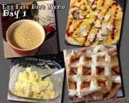 egg fast diet menu plan