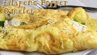 Keto Cream Cheese Jalapeno Poppers Omelette