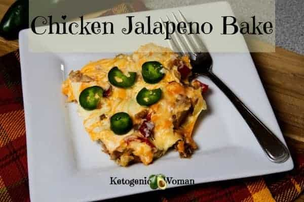 Low Carb chicken cream cheese jalapeno bake