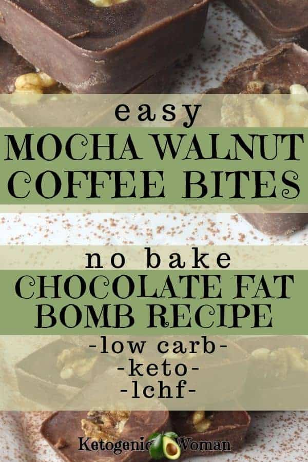 Low carb chocolate fat bomb recipe.