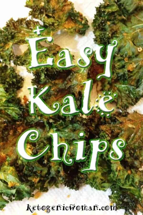 This low carb keto kale chips recipe is so delicious, even my teenagers love it! This kind of recipe is all about the kale chips seasoning you go with, and this one is so tasty you will want to make it over and over again. Gluten free, keto friendly kale chips will be your new favorite go to snack.