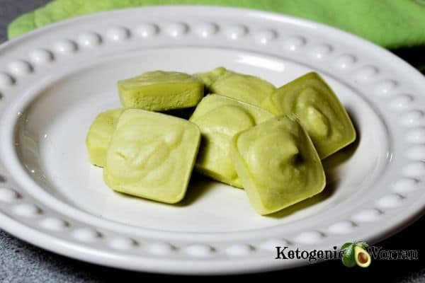 Matcha Tea Fat Bombs on white plate