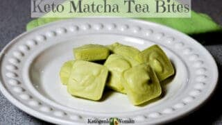 Keto Matcha Tea Fat Bomb for Egg Fast and Shakes!