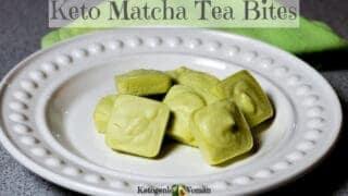Keto Matcha Tea Fat Bomb for Egg Fast and Shakes!