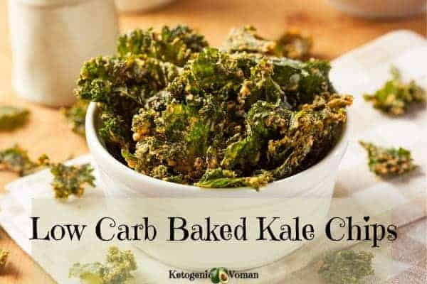 Easy cheesy kale chips are a healthy vegan low carb snack.