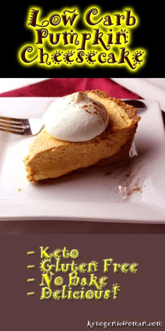 Low Carb Pumpkin Cheesecake Recipe - Ketogenic Woman