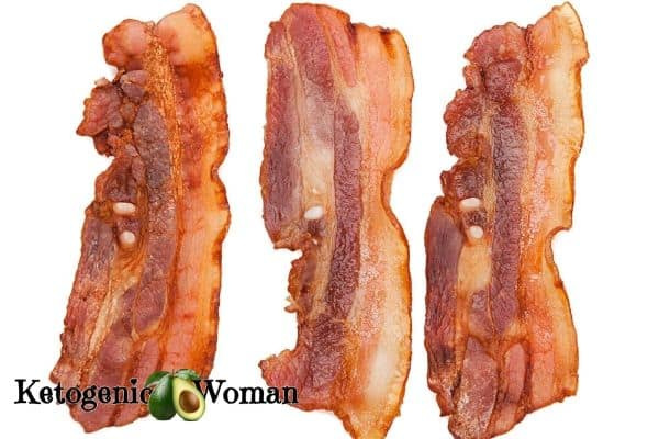 Crisp Bacon on white background
