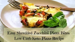 Easy Shredded Zucchini Pizza Bites Recipe | Low Carb Keto Pizza Recipe