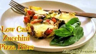 Easy Shredded Zucchini Pizza Bites Recipe | Low Carb Keto Pizza Recipe