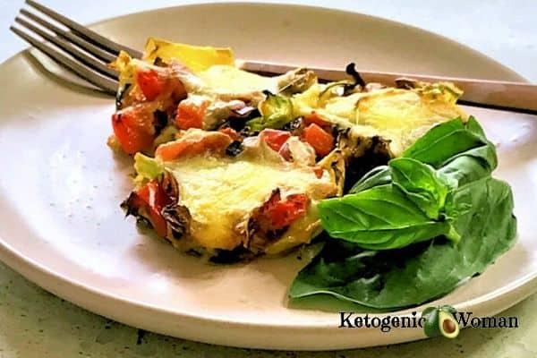 zucchini pizza bites on plate