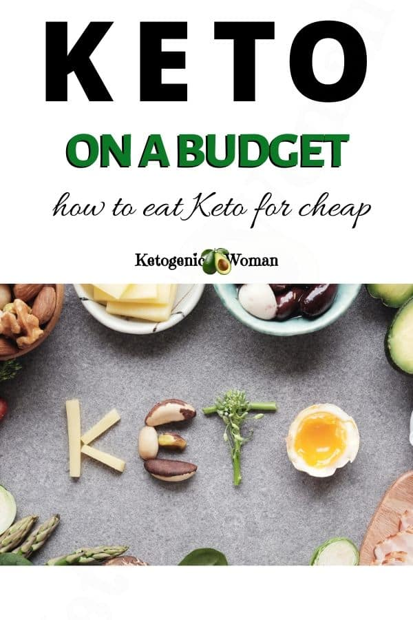 Pinterest Pin for how to eat keto for cheap