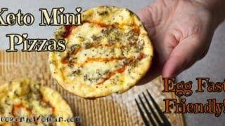 Keto Mini Egg Fast Pizzas