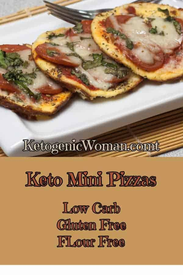Keto Mini Pepperoni Pizzas feature a flour free crust!