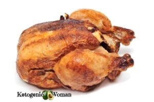rotisserie chicken white background