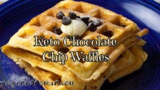 Chocolate Chip Keto Waffles
