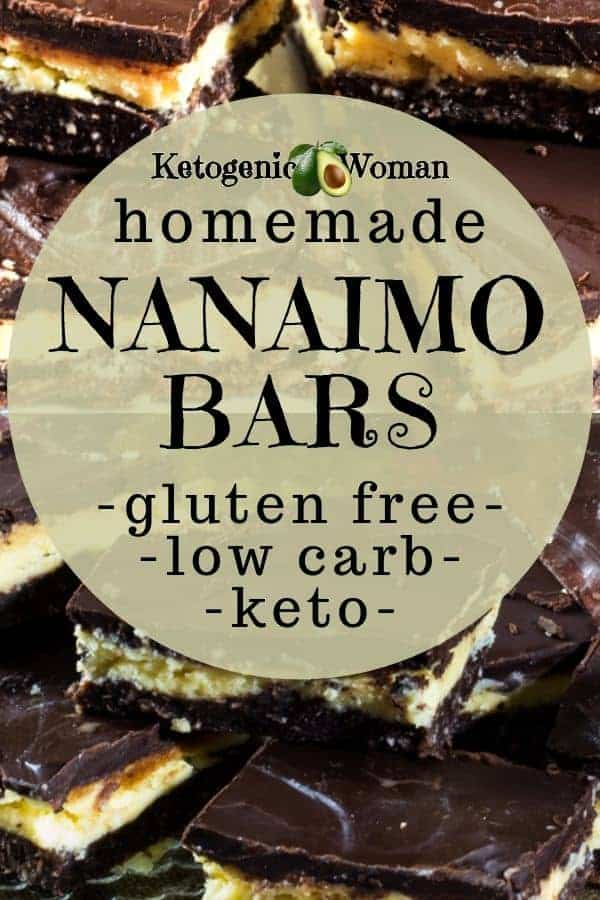 Low carb nanaimo bars? No way! Try these simple homemade diy keto nanaimo bar.