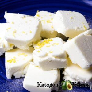 Plate o Lemon Cheesecake Fat Bombs
