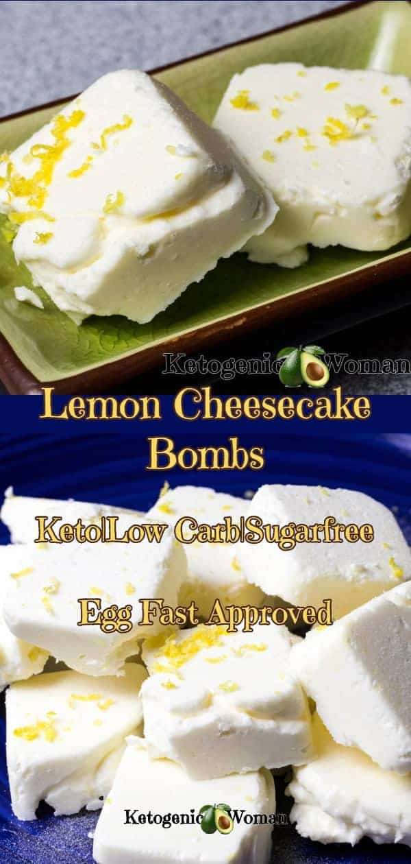 Keto Egg Fast Lemon Cheesecake Fat Bombs. A delicious way to get those Egg Fast fats in that also tastes super yummy!