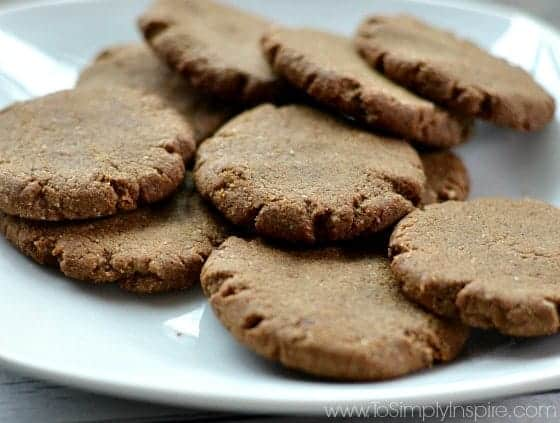 Gluten Free Gingerbread Cookies for a clean eating Christmas