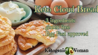 Keto Cloud Bread with Dairy Free and Egg Fast Options