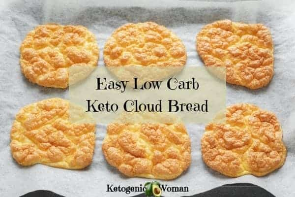 This Easy Egg Fast Keto Cloud Bread Recipe is so delicious. It's so easy to make with only 3 ingredients. This cloud bread is gluten free, egg fast approved, and so tasty. Save this recipe today by Pinning it or Print and save the recipe card for later.