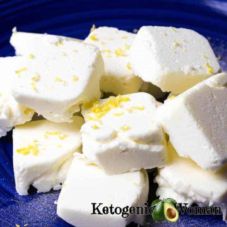 Keto Egg Fast Lemon Cheesecake Fat bombs