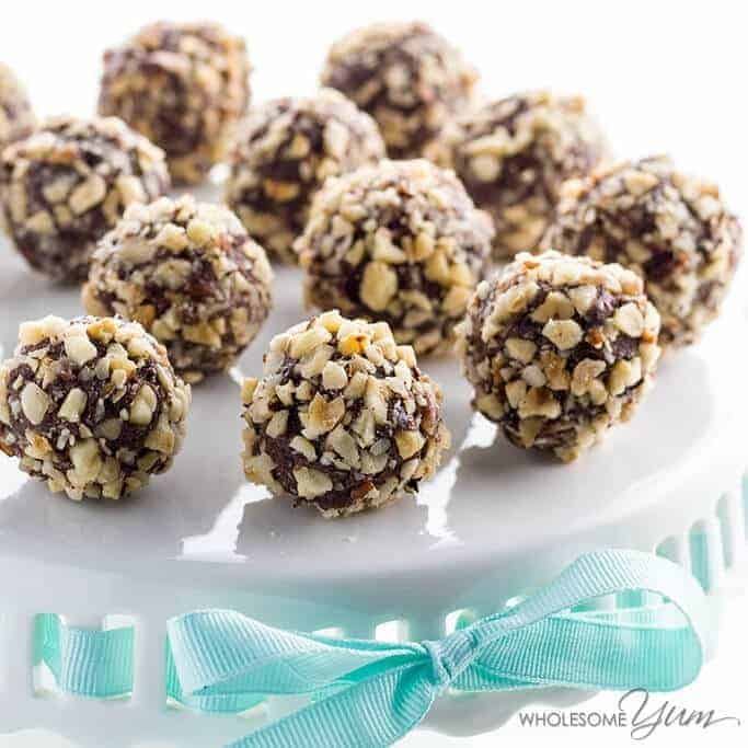 Sugar Free Chocolate Nutella Truffles, Low Carb and Gluten Free