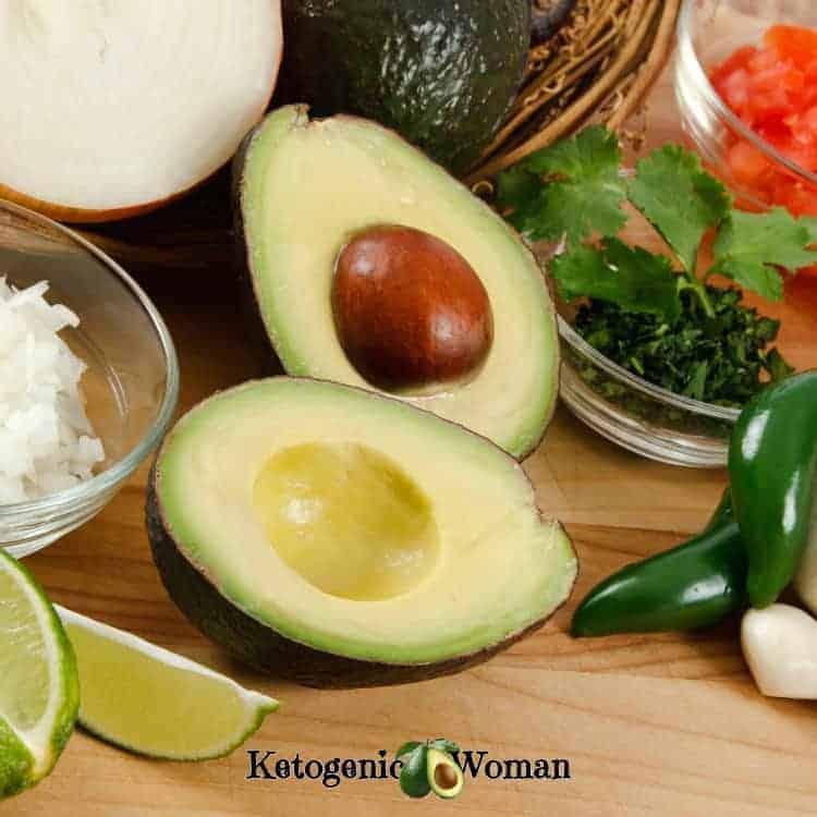 Garnish items for keto chicken fajita soup
