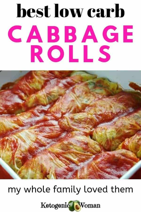 Easy Keto Cabbage Rolls. Low Carb and Gluten Free.