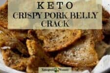 Keto Air Fryer or Oven Pork Belly Slices. Low Carb and Crispy!