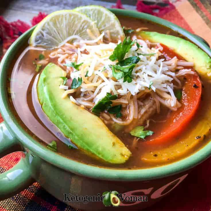 Keto Chicken Fajita Soup for the Instant Pot