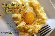 Easy Keto Egg Fast Recipe: Egg Puffs