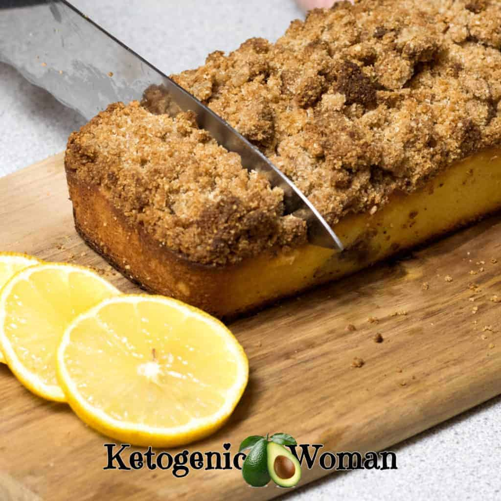 Keto Lemon Blueberry Coffee Cake is moist and delicious!
