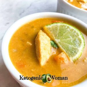 Low Carb Thai Coconut Curry Soup