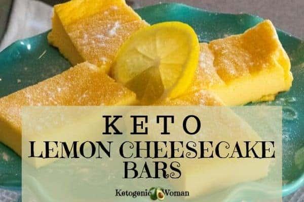 Easy Keto, Egg Fast Lemon Cheesecake Bars - low carb & TMH